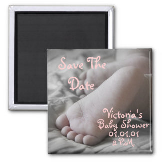 Baby Feet Square Magnet