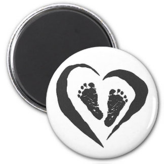 Baby feet Magney 6 Cm Round Magnet