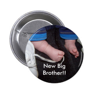 Baby Feet, New Big Brother!! 6 Cm Round Badge