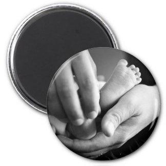 Baby feet refrigerator magnets