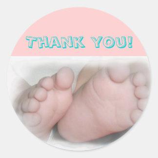 Baby Feet -Thank you! Sticker