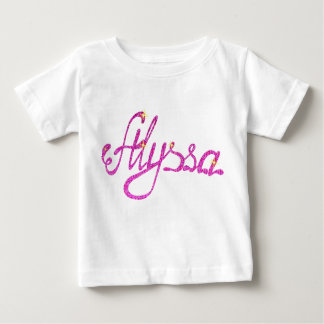 Baby Fine Jersey T-Shirt Alyssa name