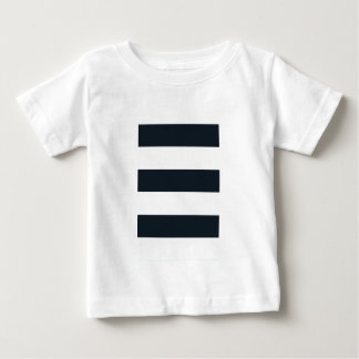 Baby Fine Jersey T Shirt : Black & White Striped