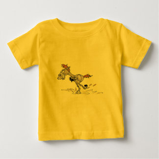 BABY FINE JERSEY T-SHIRT - CARTOON RACING HORSE