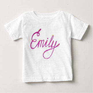 Baby Fine Jersey T-Shirt Emily name