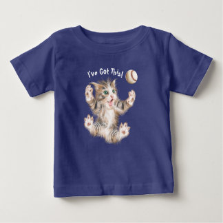 Baby Fine Jersey T-Shirt - Playful Kitty