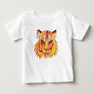 Baby Fine Jersey T-Shirt Tiger Drawing