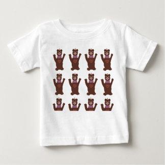 Baby Fine Jersey T-Shirt, White Bears Baby T-Shirt