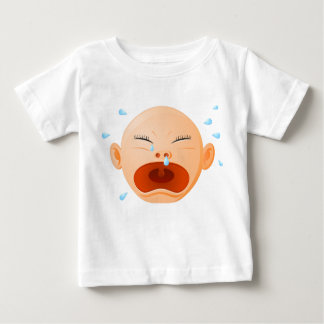 Baby Fine Jersey T-Shirt with crying baby image