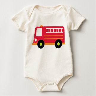 Baby Firetruck Baby Bodysuit