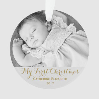 Baby First Christmas Colden Keepsake Ornament