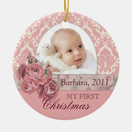 Baby First Christmas Photo Ornament Personalized