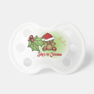 Baby First Christmas - Teddy Bear Dummy