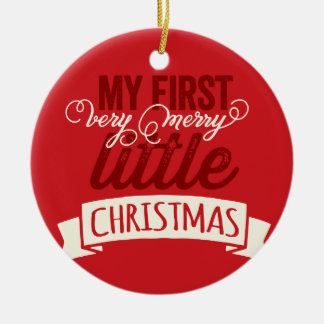 Baby First Merry Little Christmas Photo Ornament