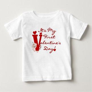Baby First Valentine's Day Tshirt