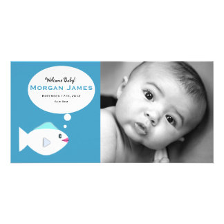 Baby Fish Blue Photo Cards