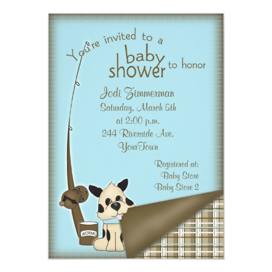 Baby Fisherman Shower Invitation
