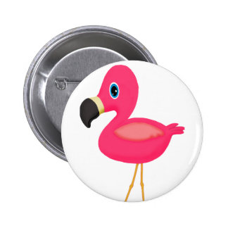 Baby Flamingo 6 Cm Round Badge