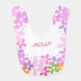Baby Floral Monogram Bib