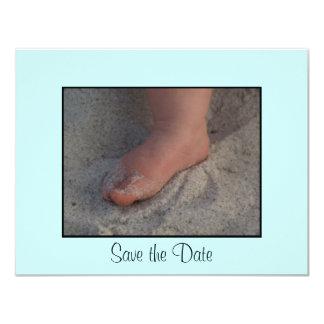 Baby Foot 11 Cm X 14 Cm Invitation Card