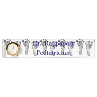 Baby Foot Prints Desk Nameplate