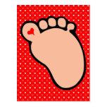 baby footprint light skin postcard