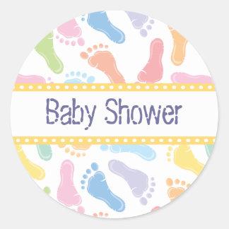 Baby Footprints- Baby Shower Sticker