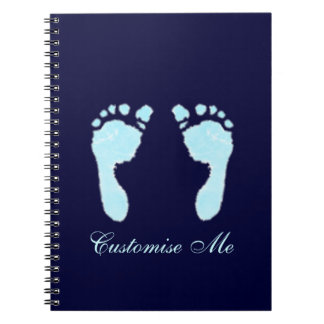 Baby Footprints (Boy) Notebooks