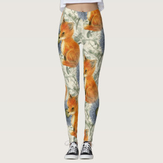 Baby Fox Blue Floral Ivy Leggings