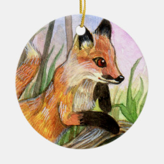 Baby Fox Ceramic Ornament