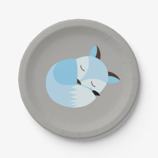 Baby Fox Paper Plate for Baby Shower, Birthday