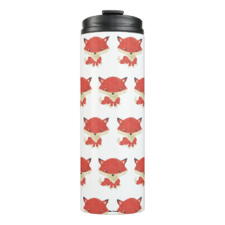 Baby Fox Pattern Thermal Tumbler