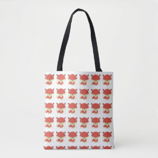 Baby Fox Pattern Tote Bag