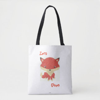 Baby Fox Pattern Zero Fox Given Tote Bag