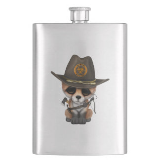 Baby Fox Zombie Hunter Hip Flask