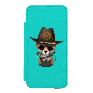 Baby Fox Zombie Hunter Incipio Watson™ iPhone 5 Wallet Case