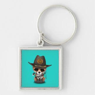 Baby Fox Zombie Hunter Key Ring