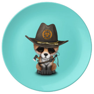 Baby Fox Zombie Hunter Plate