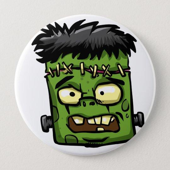Baby frankenstein - baby frank - frank face 10 cm round badge