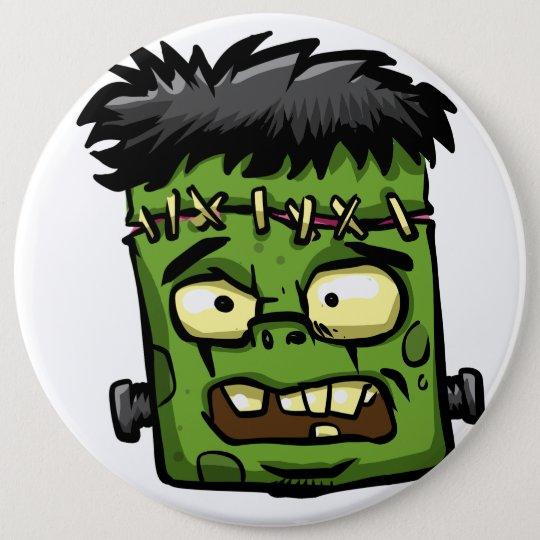 Baby frankenstein - baby frank - frank face 6 cm round badge