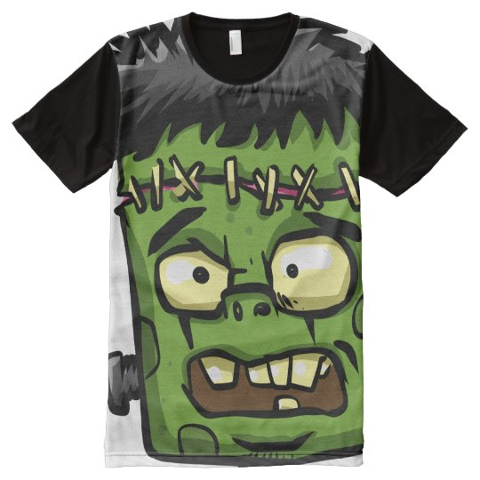 Baby frankenstein - baby frank - frank face All-Over print T-Shirt