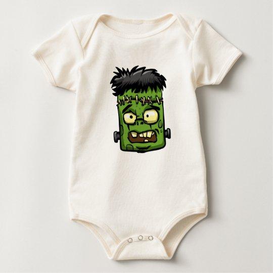 Baby frankenstein - baby frank - frank face baby bodysuit