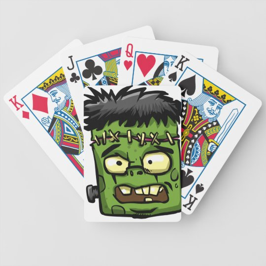 Baby frankenstein - baby frank - frank face bicycle playing cards
