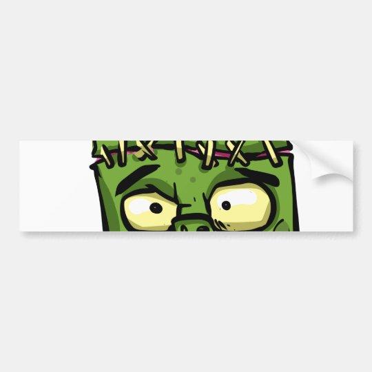 Baby frankenstein - baby frank - frank face bumper sticker