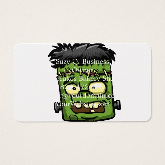 Baby frankenstein - baby frank - frank face business card
