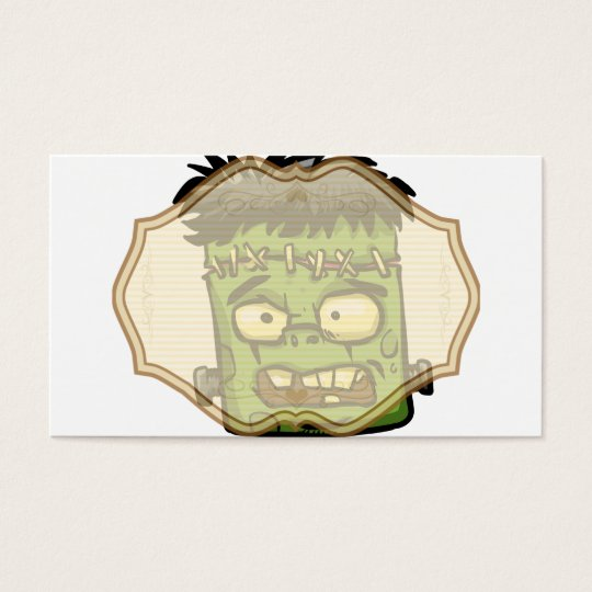 Baby frankenstein - baby frank - frank face business card
