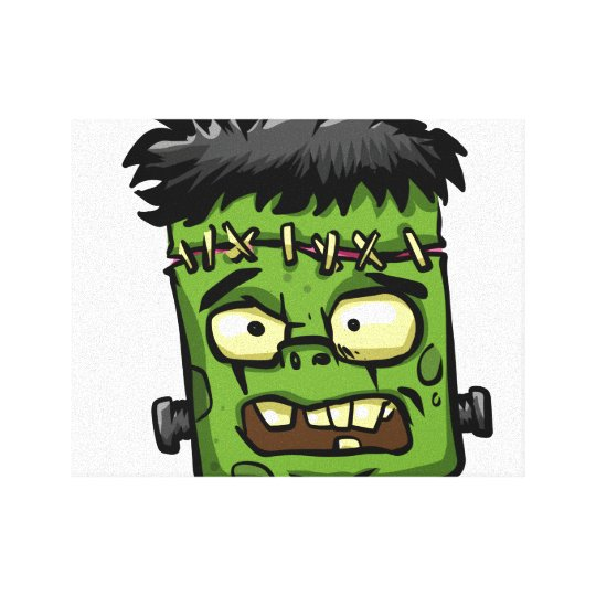 Baby frankenstein - baby frank - frank face canvas print