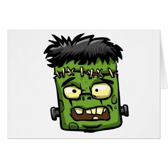 Baby frankenstein - baby frank - frank face card