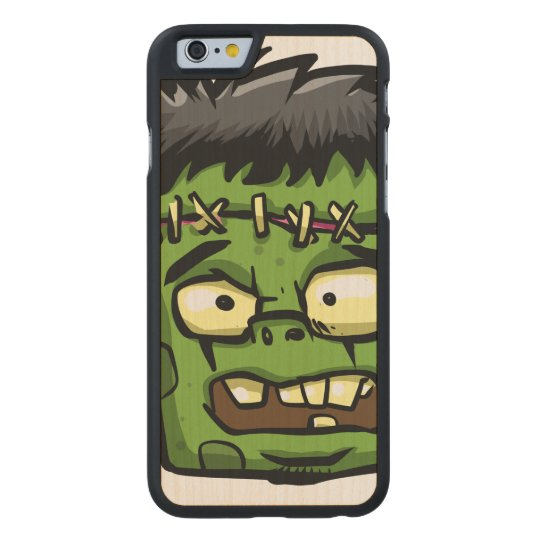 Baby frankenstein - baby frank - frank face carved maple iPhone 6 case