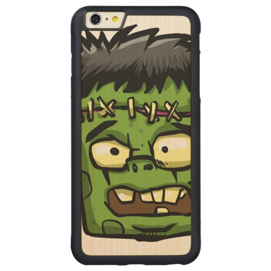 Baby frankenstein - baby frank - frank face carved maple iPhone 6 plus bumper case